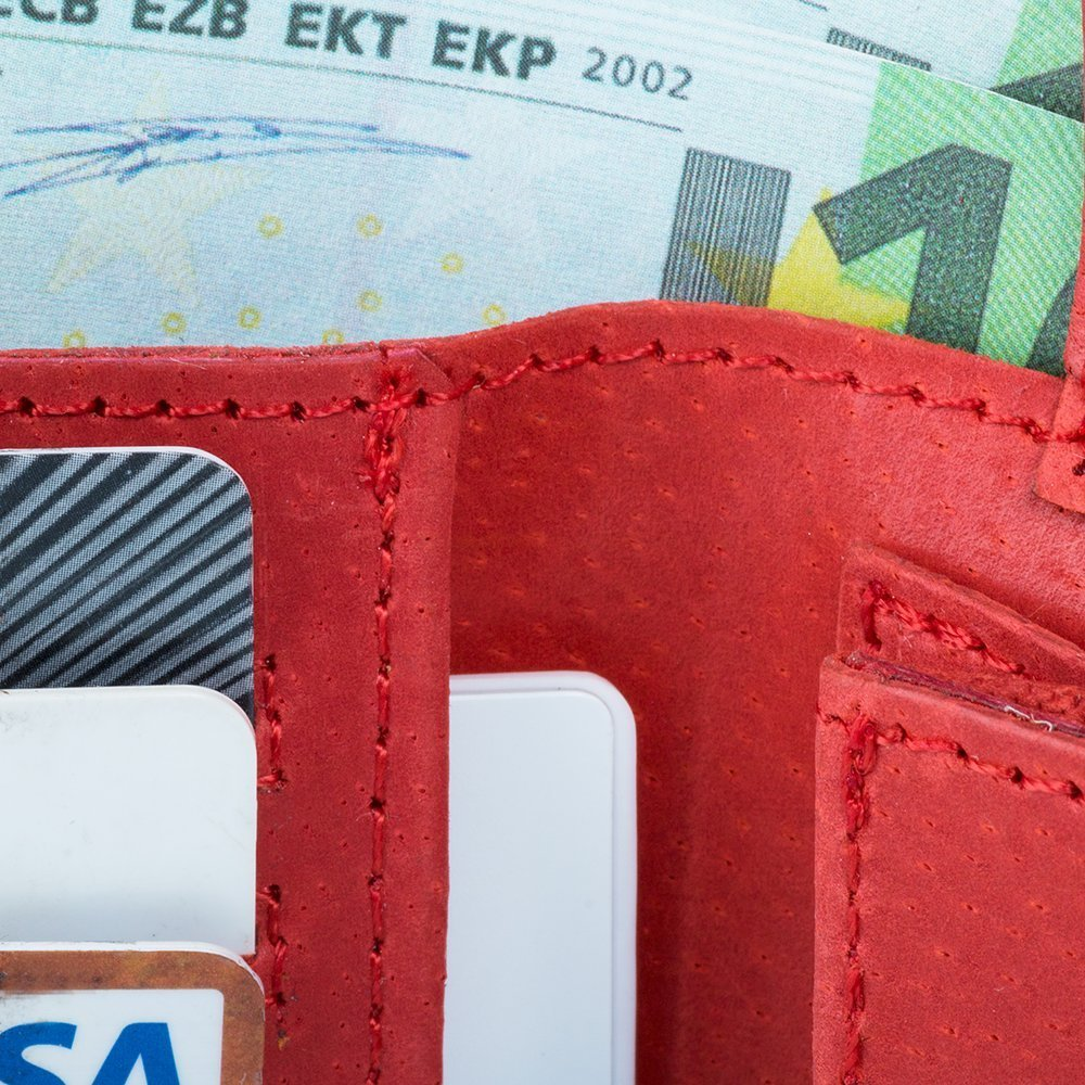 Classic wallet with card slot - Costa Red