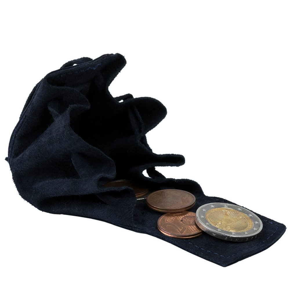 Coin Pouch - Nubuck Navy blue