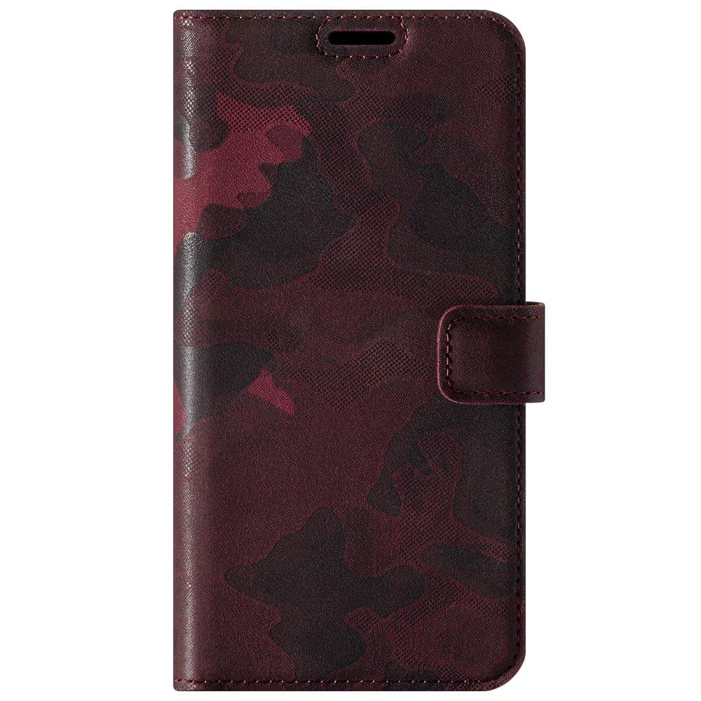 RFID Wallet case - Military Camouflage Burgundy