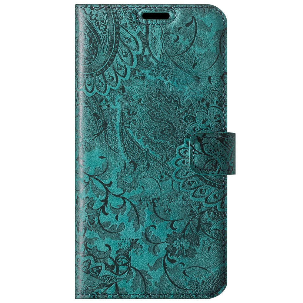 RFID Wallet case - Ornament turquoise
