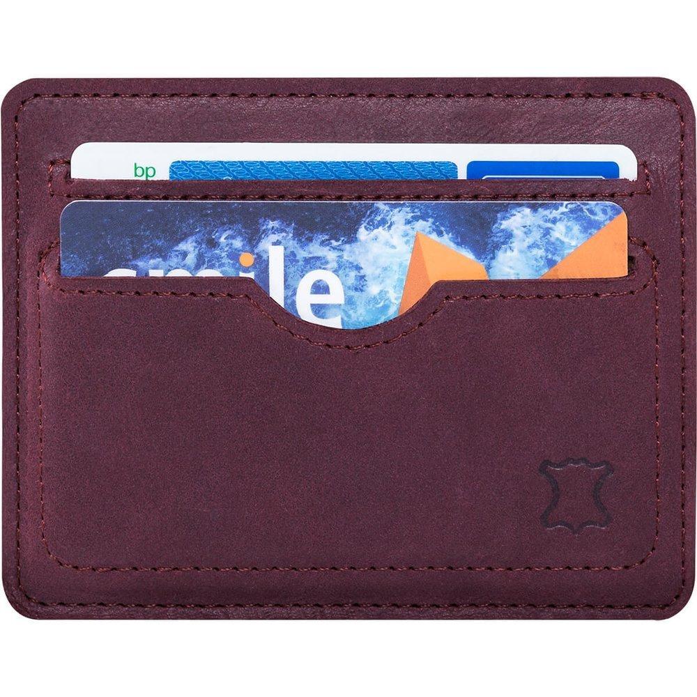 Slim Card Wallet - Burgund