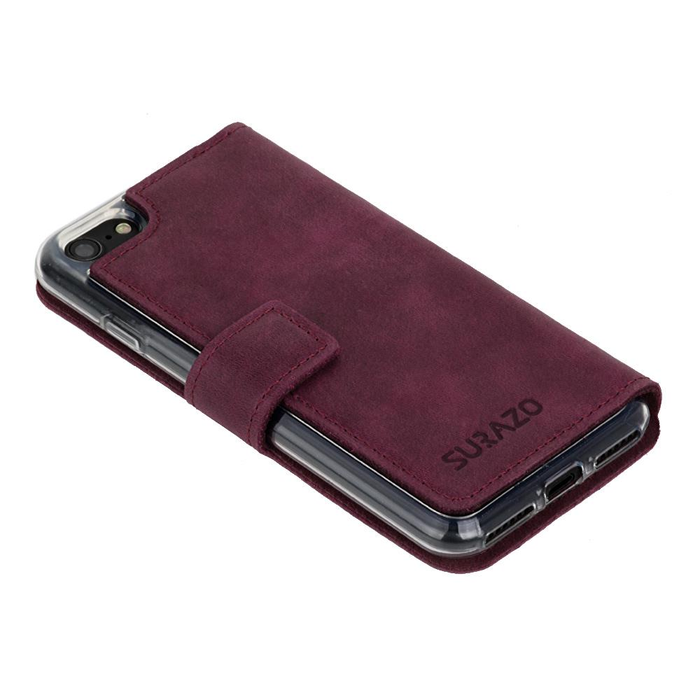 Slim cover - Nubuck Burgundy