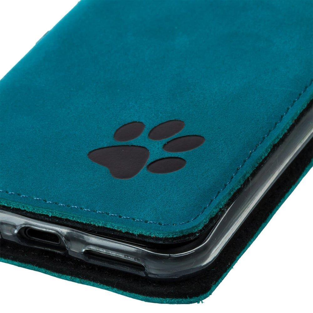 Smart magnet RFID - Nubuck Turquoise - Black Paw