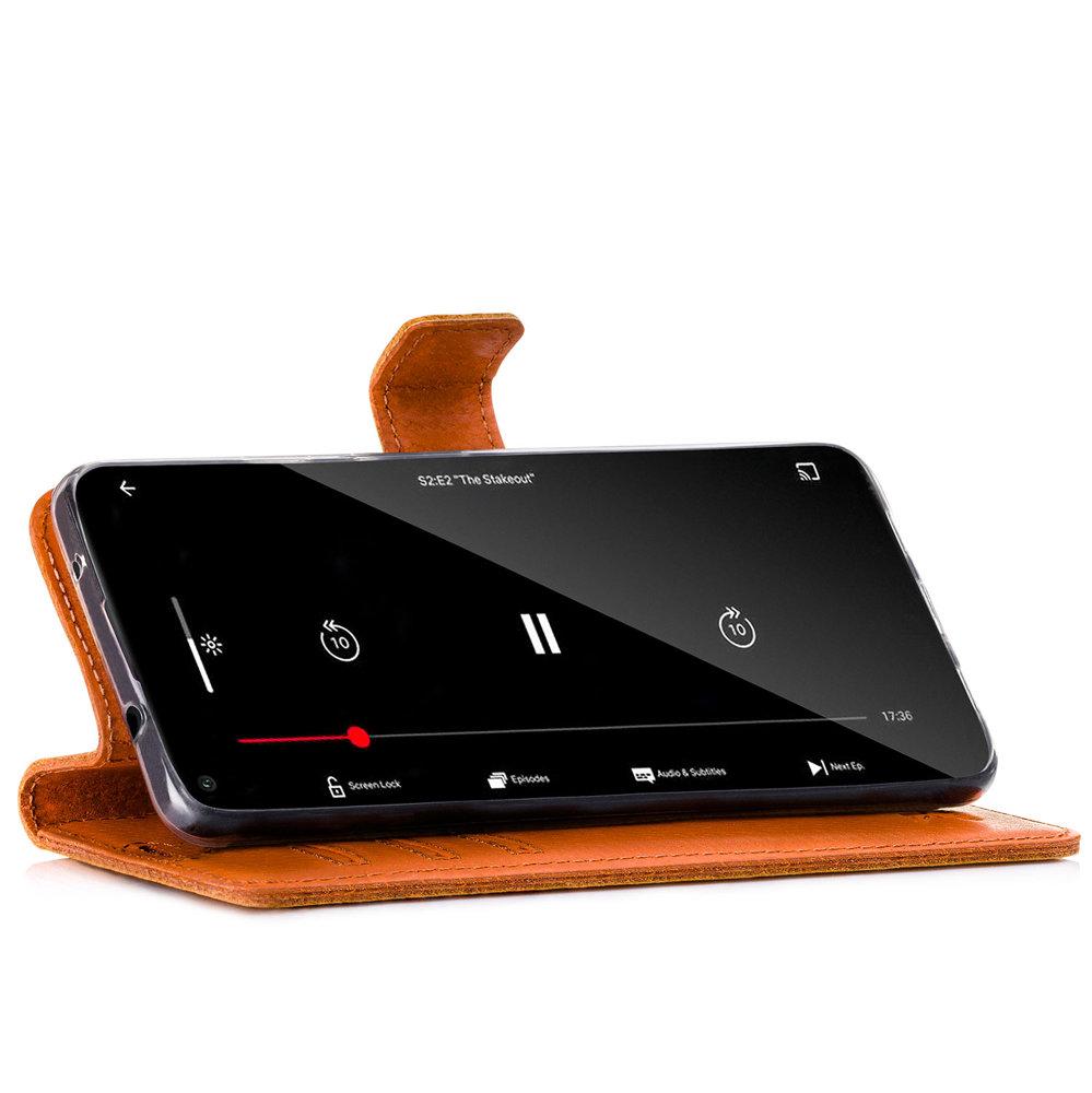 Wallet case - Nubuck Dark Orange