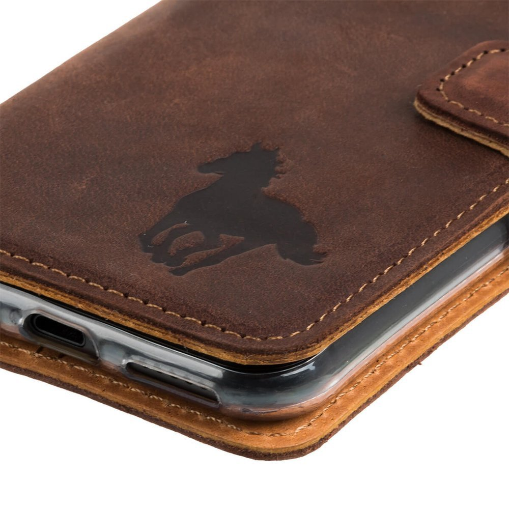 Wallet case - Nut Brown - Galloping Horse