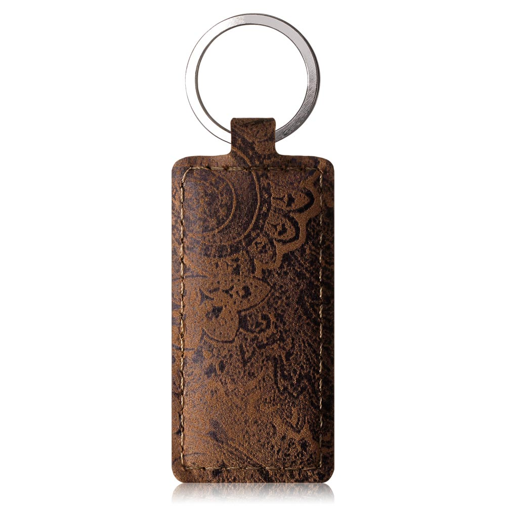 Wallet case RFID Premium - Ornament Brown