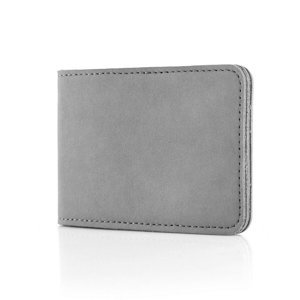 Etui for cards and business cards - Nubuk Gray