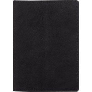 Passport case with card slot - Nubuk Black