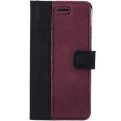 Wallet case - Nubuck Black and Burgundy