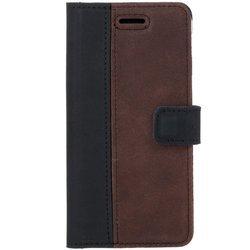 Wallet case - Nubuck Black and Nut brown