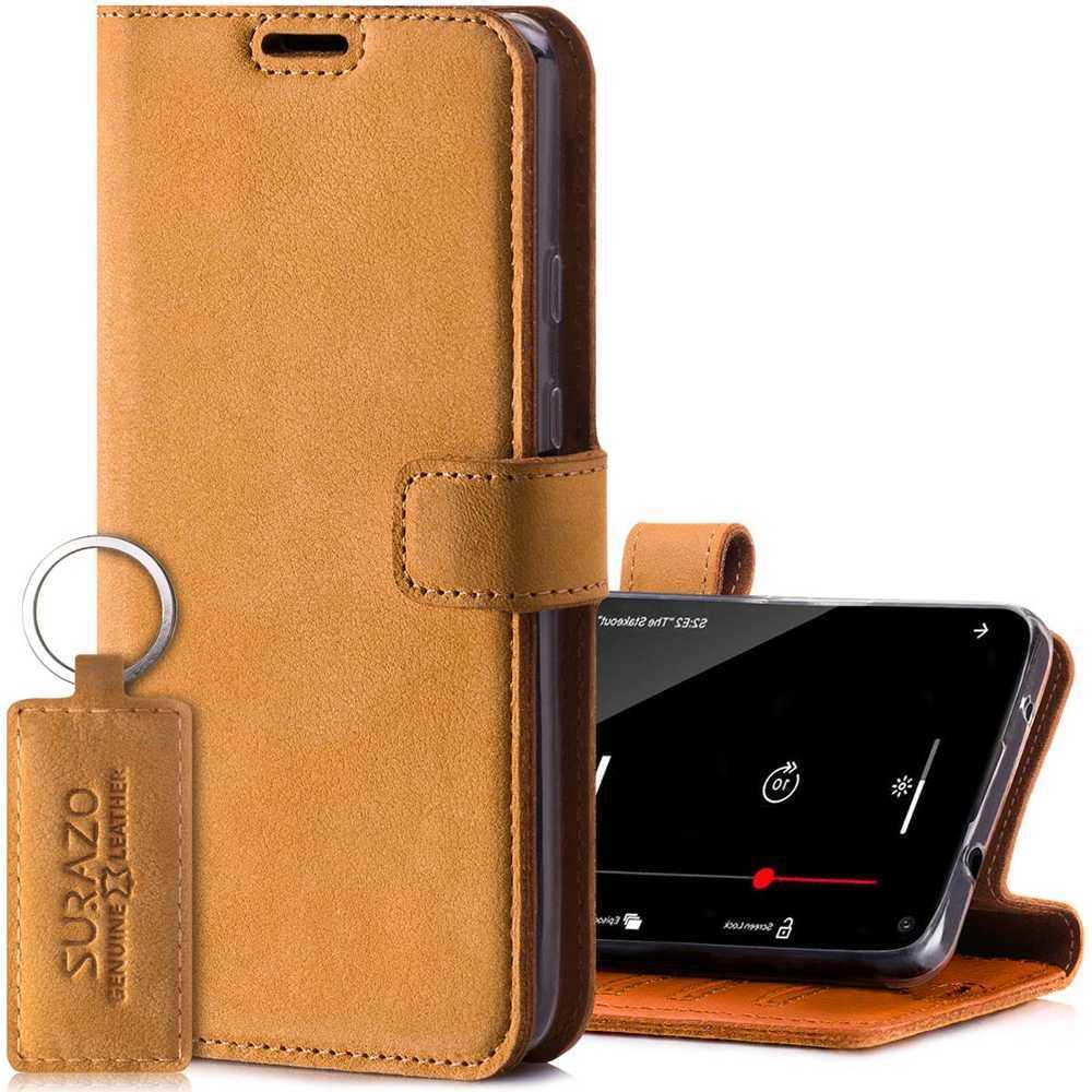 Wallet case - Nubuk Camel