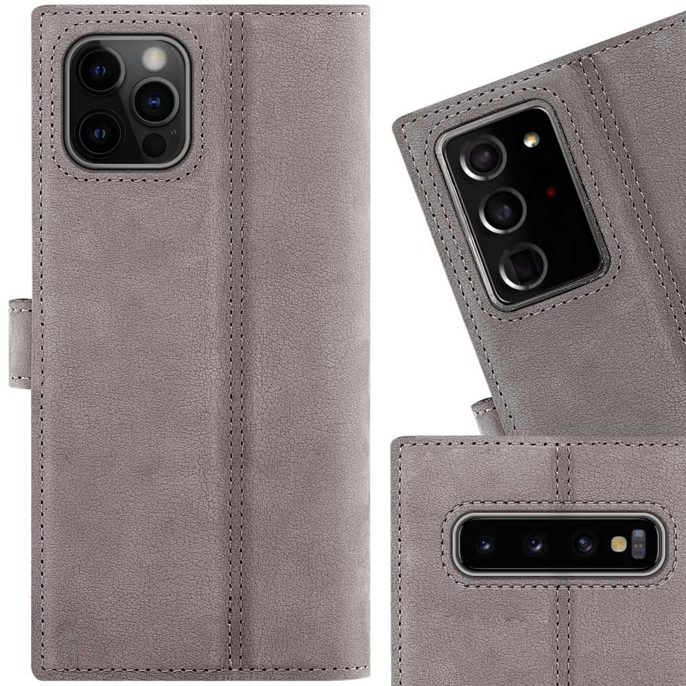 Wallet case - Nubuk Grau