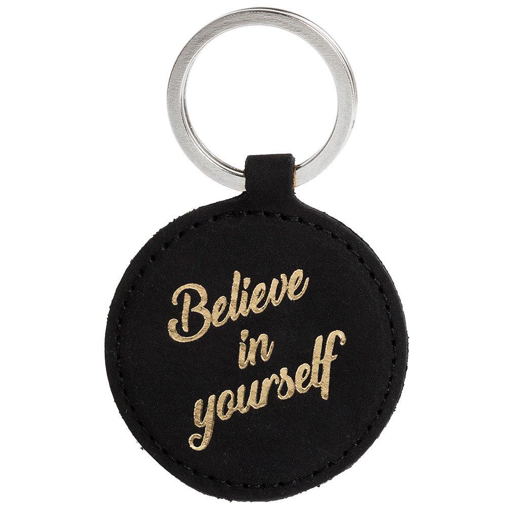 Brelok na klucze - Nubuk Czarny - Believe in yourself