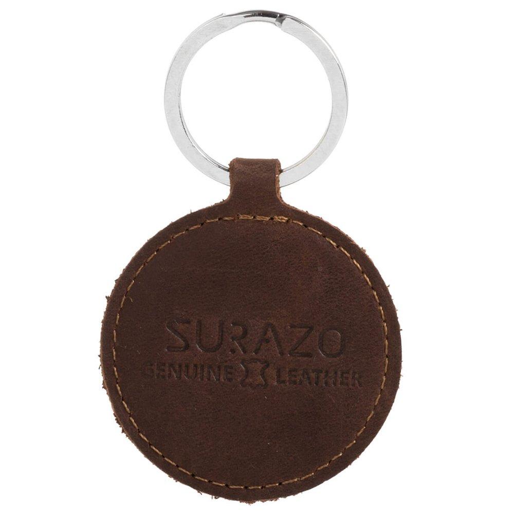 Brelok na klucze - Nubuk Orzechowy - Słoń