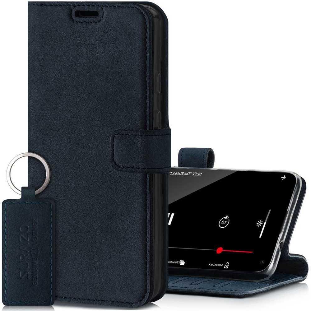 Wallet case - Nubuk Granatowy