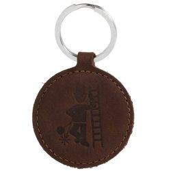 Brelok na klucze - Nubuk Orzechowy - Kominiarz